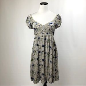 Free people boho peasant floral velvet dress